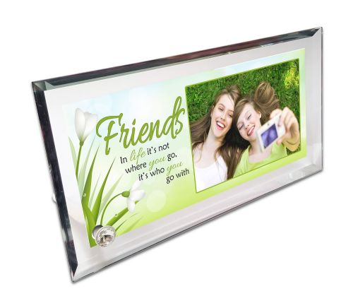 Personalised Friends Quote Crystal Photo Frame